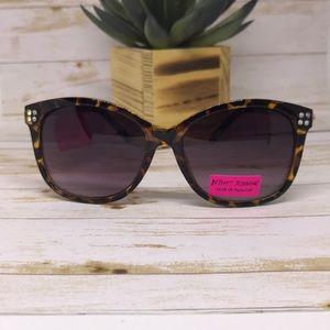 Betsey Johnson Sunglasses Tortoise and Rhinestone